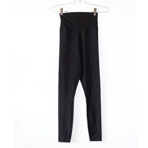 American Apparel Black Shiny Spandex Leggings S